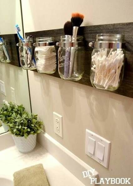 Perfect open storage for the bathroom. Great idea, even better if you could have a lid on to stop dust etc