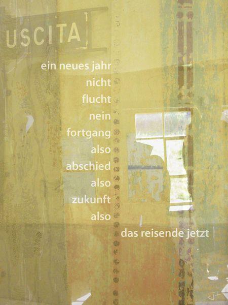 """""""ein neues jahr"""" Mixed Media von Juliane Tenner-Hebel jetzt als Poster, Kunstdruck oder Grußkarte kaufen.."""