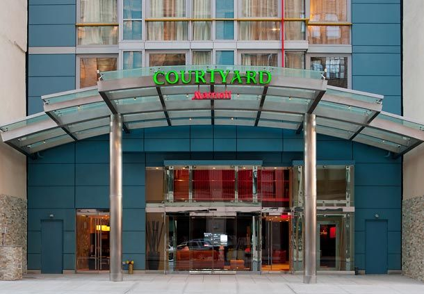 SoHo New York Courtyard Marriott Hotel Entrance