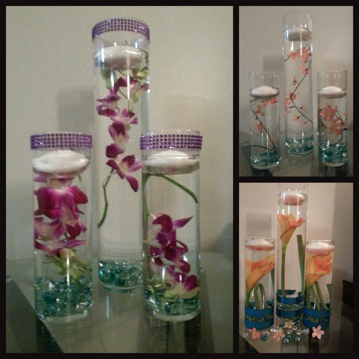 Diy floating candles centerpiece wedding ideas