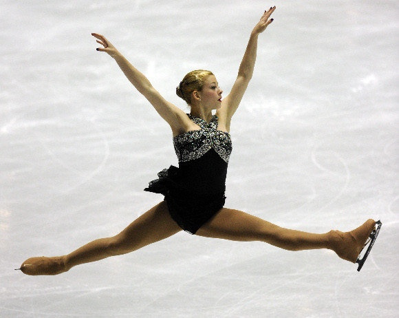 Gracie Gold. not usually fan of black dresses, but this one I like