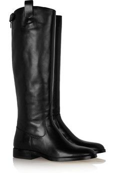 The perfect tall, flat black boots
