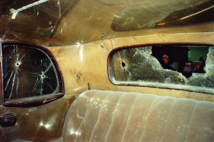 Bonnie And Clyde Pics >> inside view of the Bonnie and Clyde death car | Bonnie Parker & Clyde Barrow | Pinterest