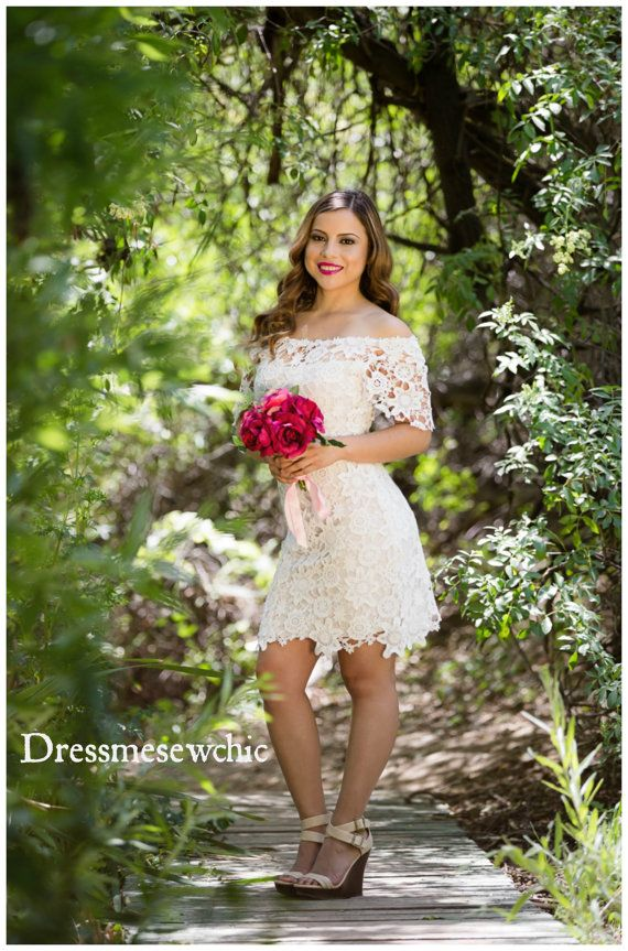 InStock Size SMALL: OFF Shoulder Mini Wedding by Dressmesewchic
