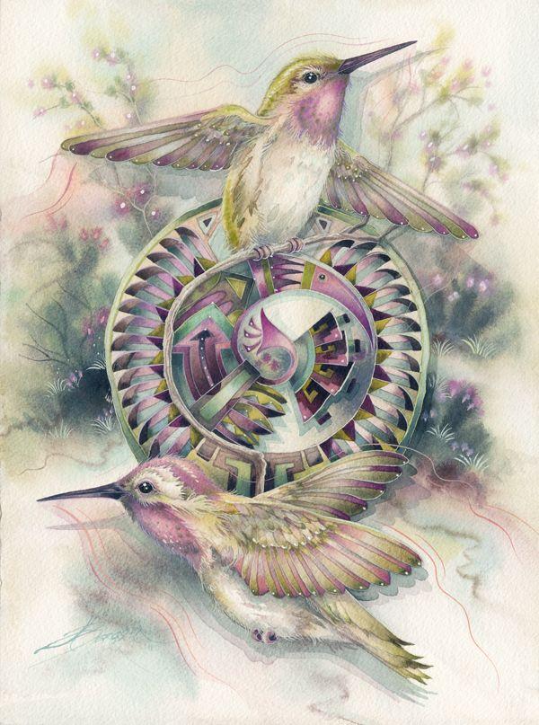Bergsma Gallery Press::Paintings::Originals::Original Paintings::2011/ Dancing Wings- Original