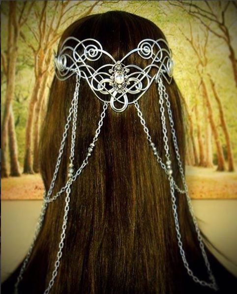 Arwen, Lord of the Rings, Elven bridal circlet by Refreshing Designs