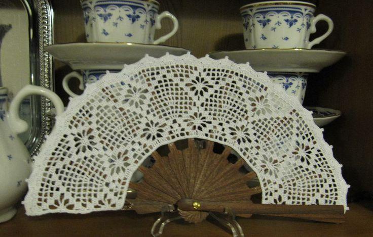 www.fotos de crochet.com | Labores de Mari Angeles: Abanico de Ganchillo terminado
