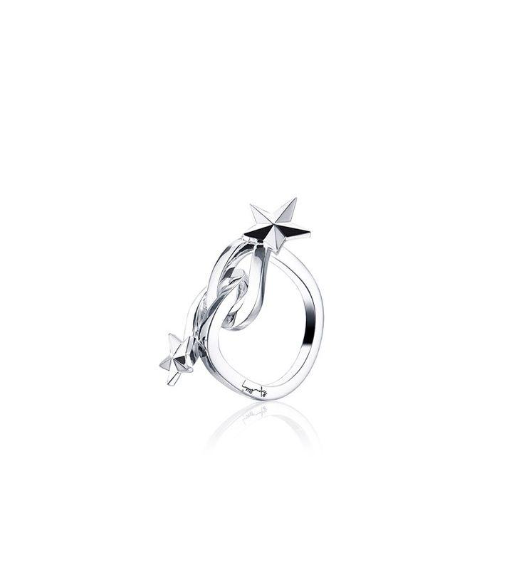 Catch A Falling Star Ring - Silver - Rings - Efva Attling