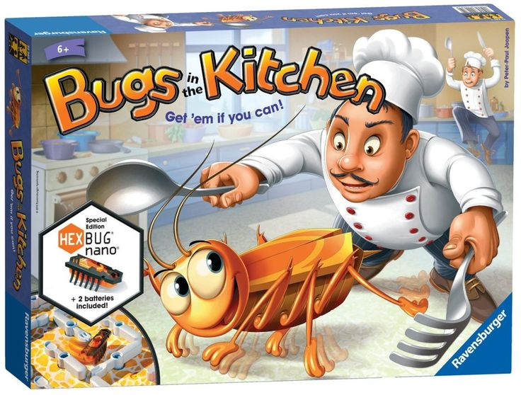 Ravensburger bugs in the kitchen game with Hex Bug Nano - so fun!