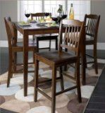 5 PC Cappuccino Finish Wood Counter Height Dining Set ,  1 Table w/ 4 stools - http://furnitureheaven.ianjweboffers.com/5-pc-cappuccino-finish-wood-counter-height-dining-set-1-table-w-4-stools/