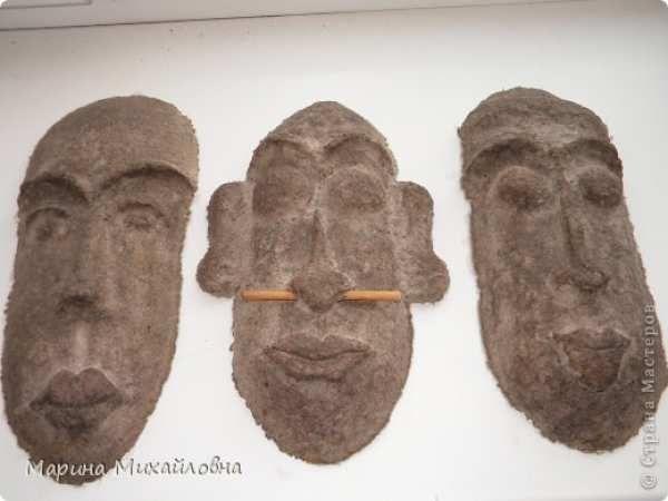 владельцев африканские маски из папье маше с фото видео дискус