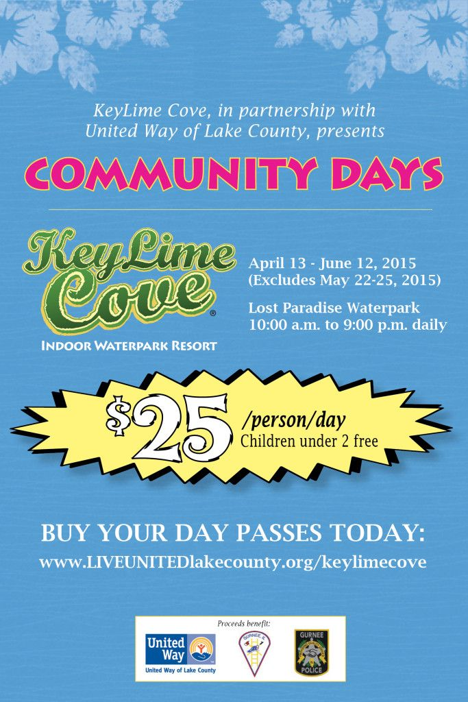 Key Lime Cove Community Days - the ONLY way to get Day Passes to Key Lime Cove!