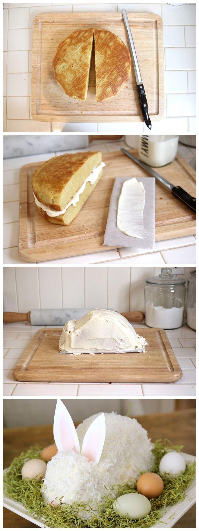 Osterhasenkuchen - garnicht so schwer nachzumachen, wenn man weiß, wie ;-)
