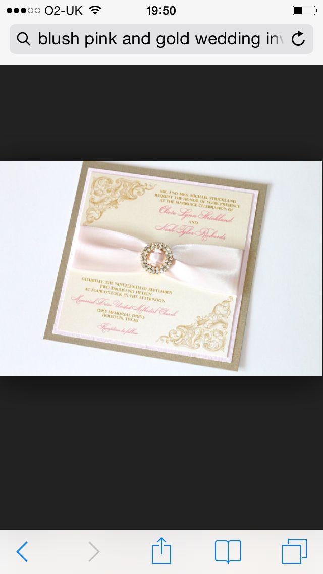 mini book wedding invitations uk%0A Blush pink and gold invites