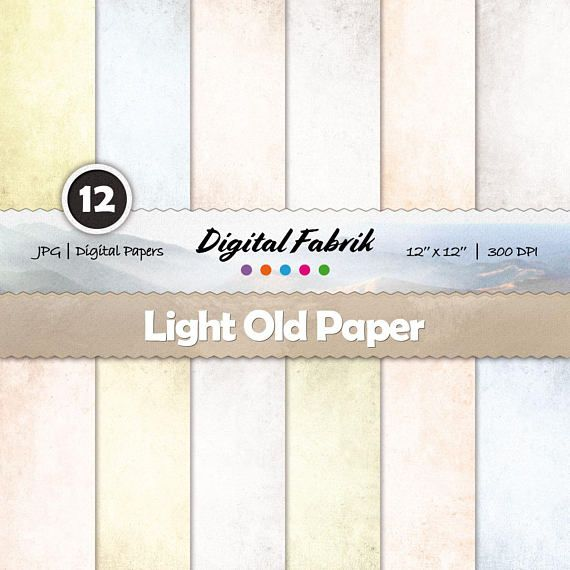 Parchment old & rustic scrapbook paper, 12 digital papers, digital paper pack, 12x12 jpg files, digital download, personal or commercial use