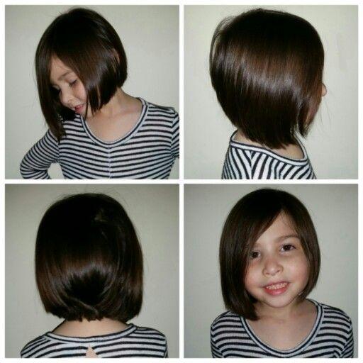 Kids asymmetrical bob haircut | family pictures