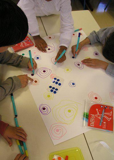 Ecole maternelle de la Fontaine: Spirales...