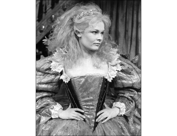 Dame Judy Dench playing Titania for a stage production of William Shakespeare's play A Midsummer Night's Dream in 1952.