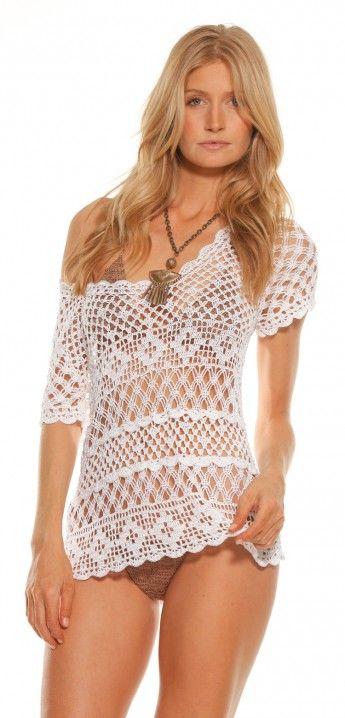 Beauty The Beach - Karlie Crochet Tunic | ShopMiamiStyle