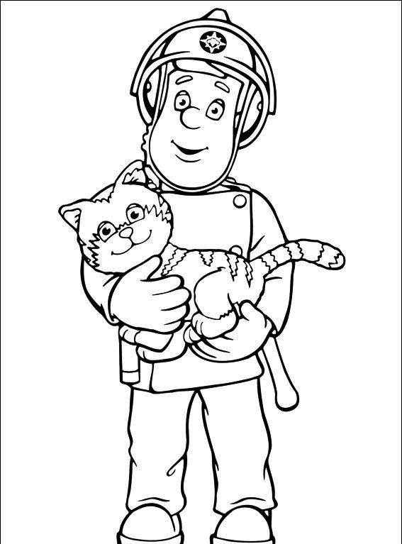 Strażak Sam #1 - Pokoloruj ulubione postacie z bajek na ubieranki.eu! // http://www.ubieranki.eu/kolorowanki/1654/strazak-sam-_1.html