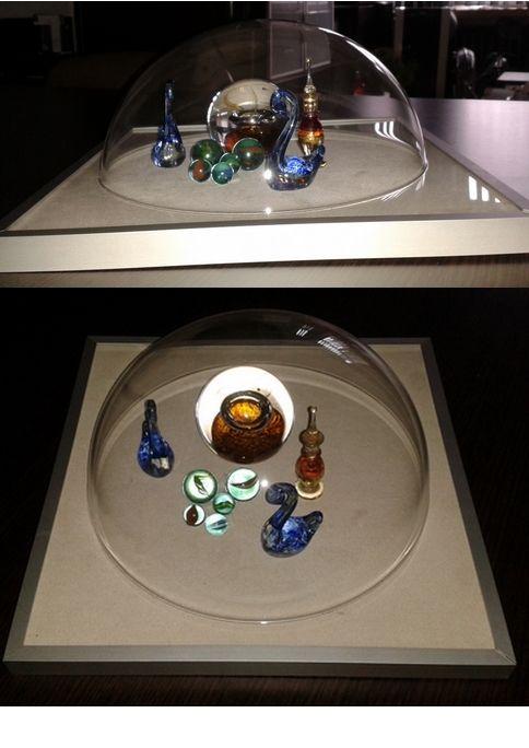 Mój pomysł na wykorzystanie ramki 3d - można w niej robić kompozycje stojące - na zdjęciu drobiazgi ze szkła