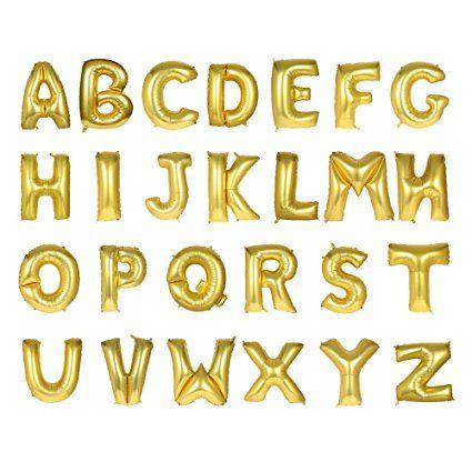 Amazon.com: 40inch Oro alfabeto A-Z Globo número 0–9Globos Fiesta de cumpleaños decoraciones de helio Foil Mylar Carta Globo: Home & Kitchen