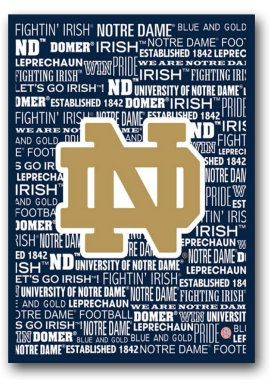 University of Notre Dame Fighting Irish 16'' x 20'' Canvas | University Of Notre Dame