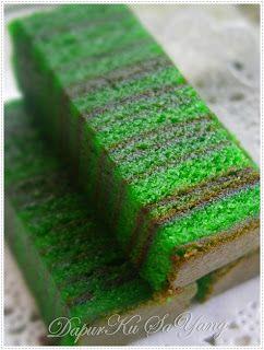 DapurKu SaYang: Kek Lapis Evergreen (versi bakar)