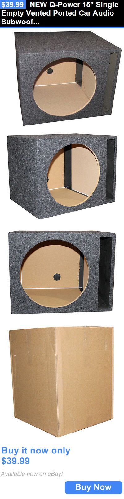 Speaker Sub Enclosures: New Q-Power 15 Single Empty Vented Ported Car Audio Subwoofer Sub Box Enclosure BUY IT NOW ONLY: $39.99