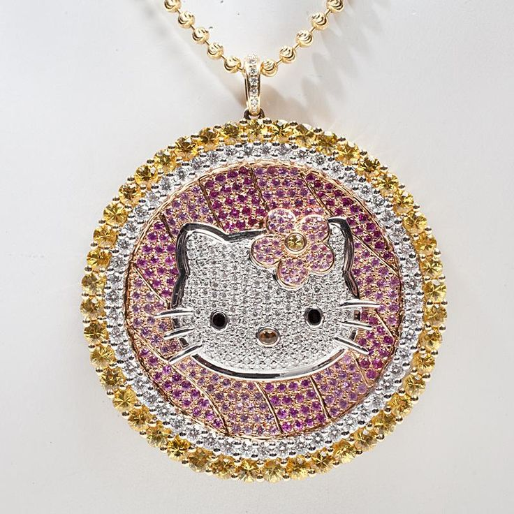 33 best hello kitty jewelry images on pinterest hello kitty stuff estate designer hello kitty simmons 18k gold diamond cocktail pendant necklace mozeypictures Image collections