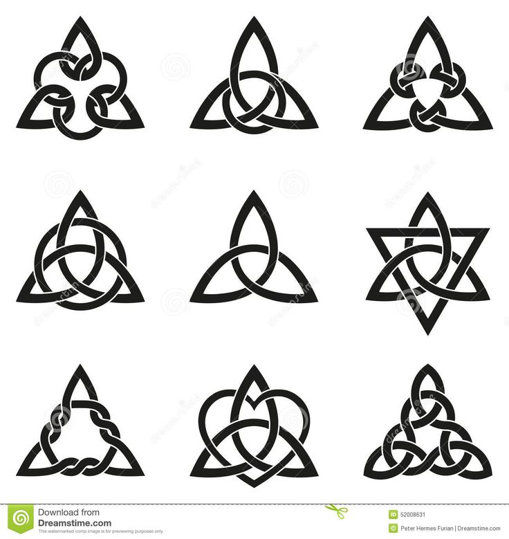 Nine Celtic Triangle Knots Stock Vector - Image: 52008631