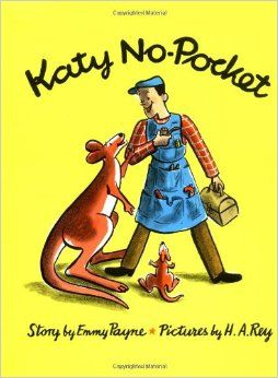 March 2016- Book Club - Katy No-Pocket by Emmy Payne and H.A. Rey. (not an affiliate link, endorsement, or sponsorship) #childrensbooks #kangaroo #Bookclub