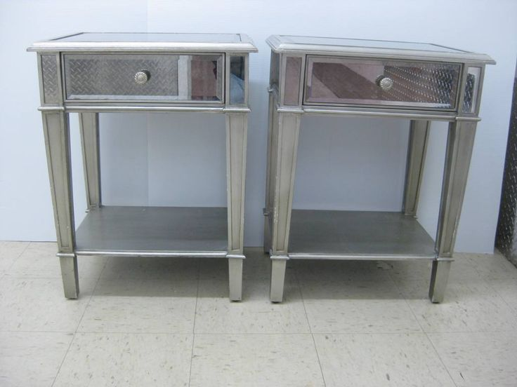 attractive mirror tall end table with drawers with pair of tall mirrored end tables and glossy