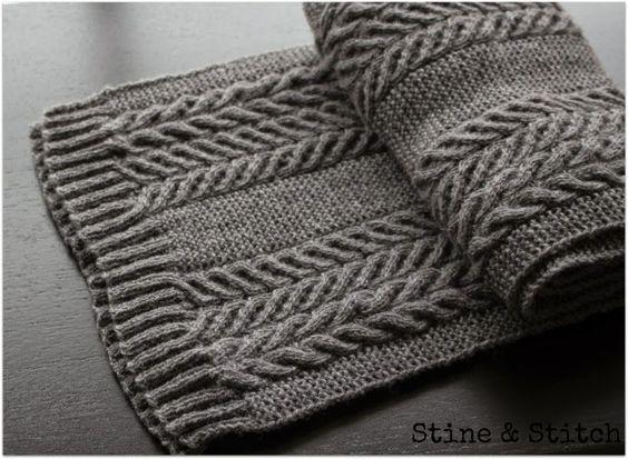 Strickanleitung grauer Schal