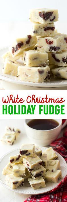 White Christmas Fudge Recipe - This white Christma…