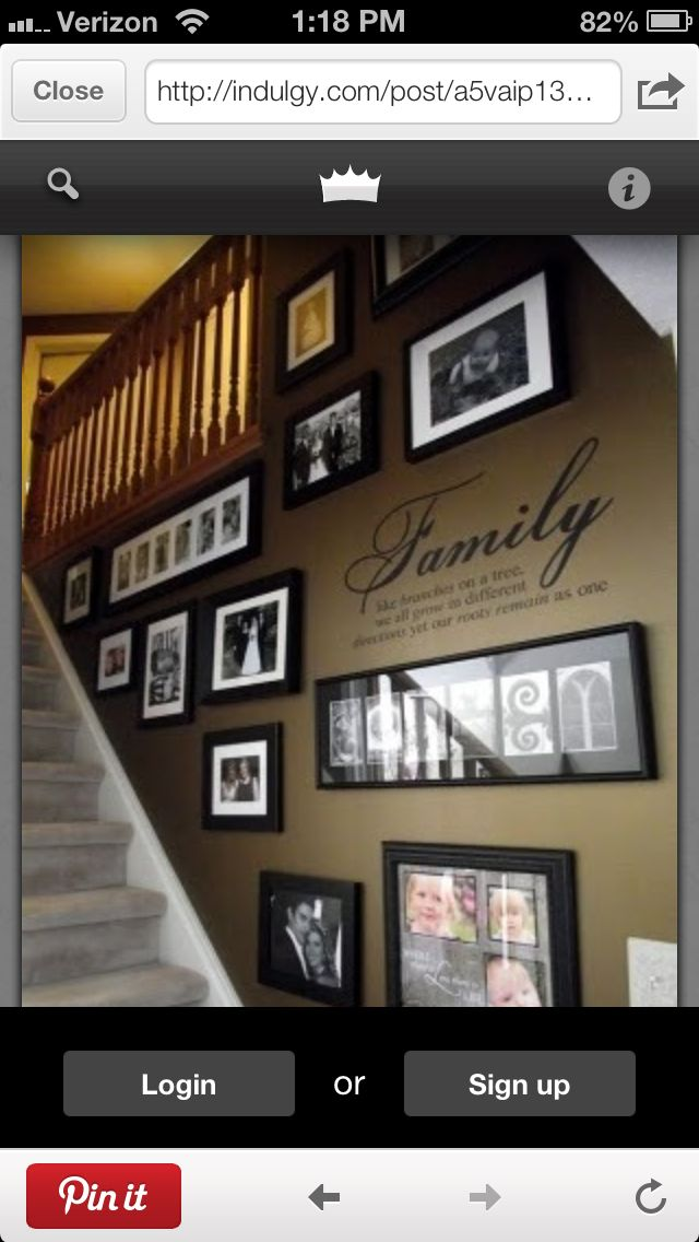 My mother had photos like this on our stairs growing up. I loved it! Now I'm going to do the same