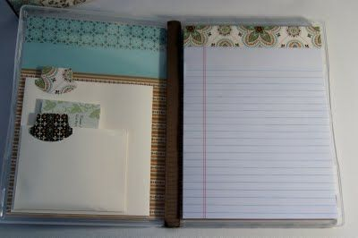Stampin By The Bay Notepad Holders Using Clear Mount