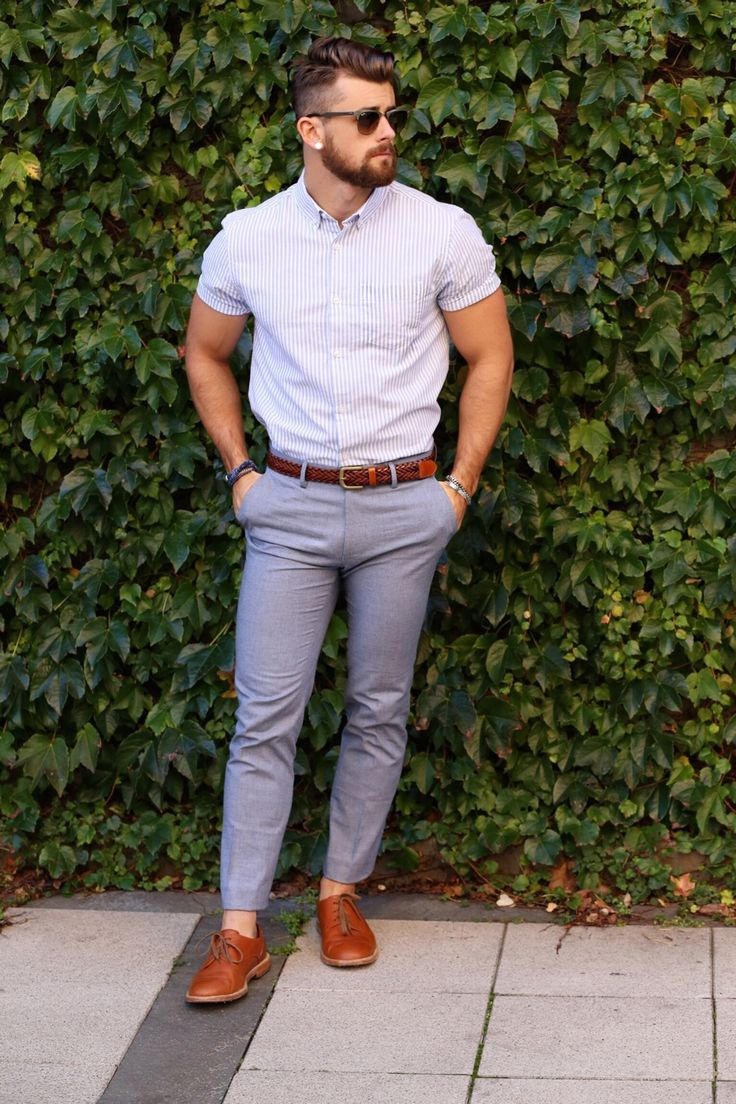 This could work for a smart/semi-formal look when it's hot outside.