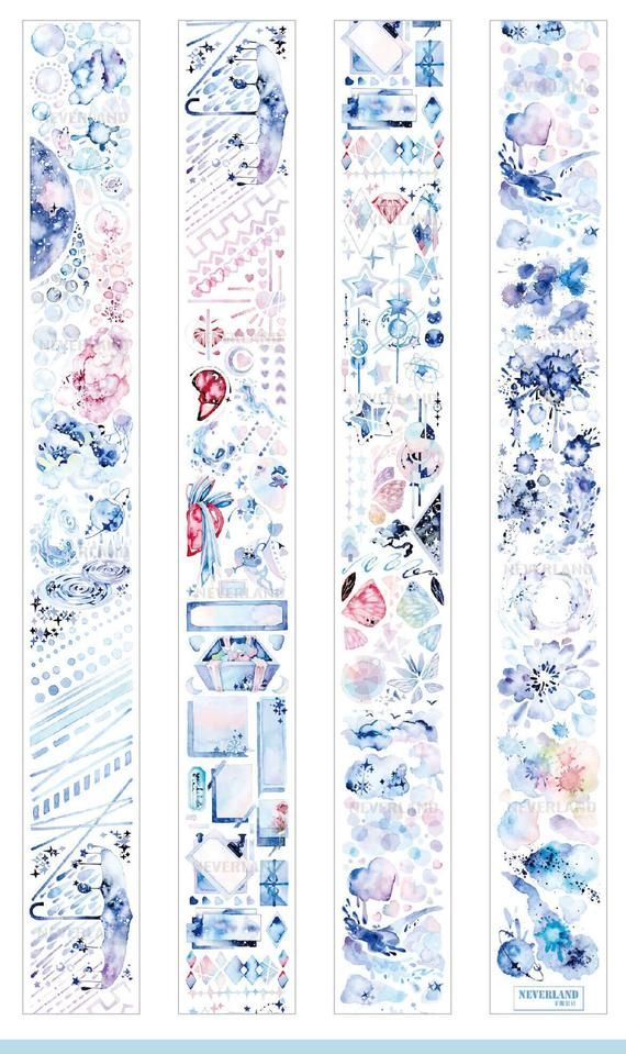 Sample planner supplies Crafting Tape withered flower washi tape,flower watercolored Washi Tape