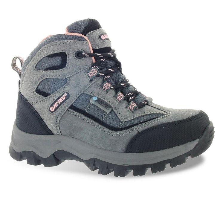 Hi-Tec Hillside Jr. Girls' Waterproof Hiking Boots, Size: 10 T, Grey