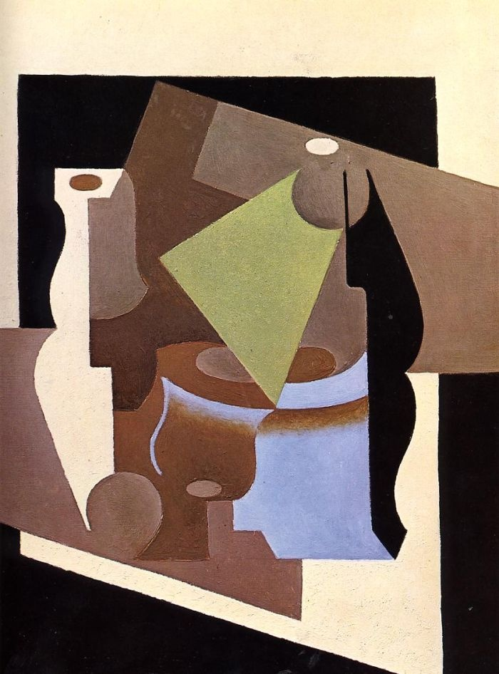 Still Life with Lamp by Juan Gris #art