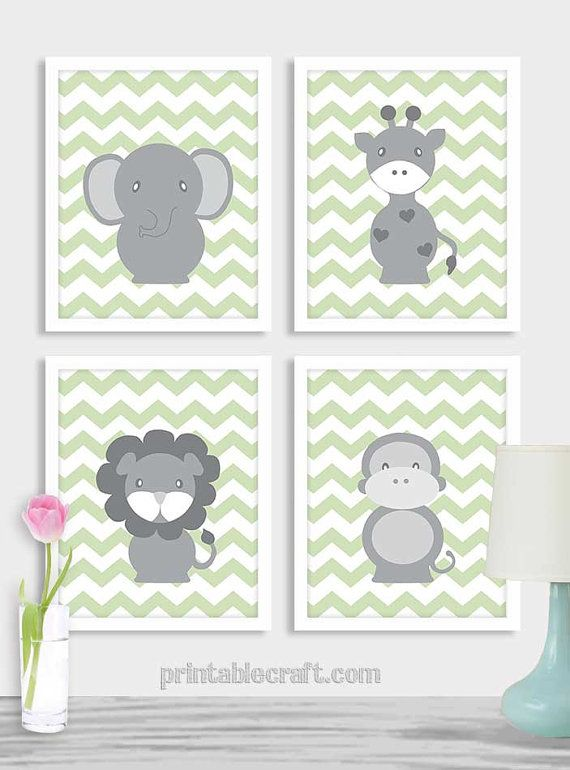 Baby Boy Nursery Art Printable Safari Nursery by PrintableCraft