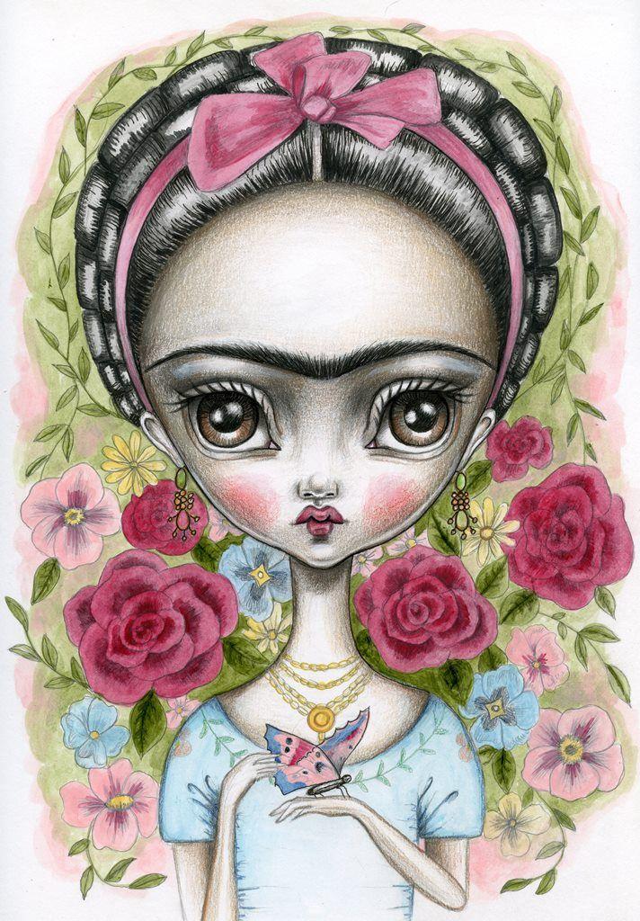 Frida illustration by Lauren Saxton.