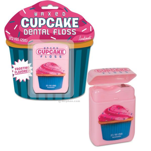 Cupcake flavored dental floss...yes please