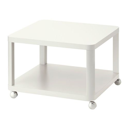 IKEA - TINGBY, Sidobord med hjul, , Separat hylla för förvaring av exempelvis tidningar hjälper dig att hålla ordning på dina saker och frigör bordsyta.Hjulen gör att du lätt kan flytta bordet vid behov.