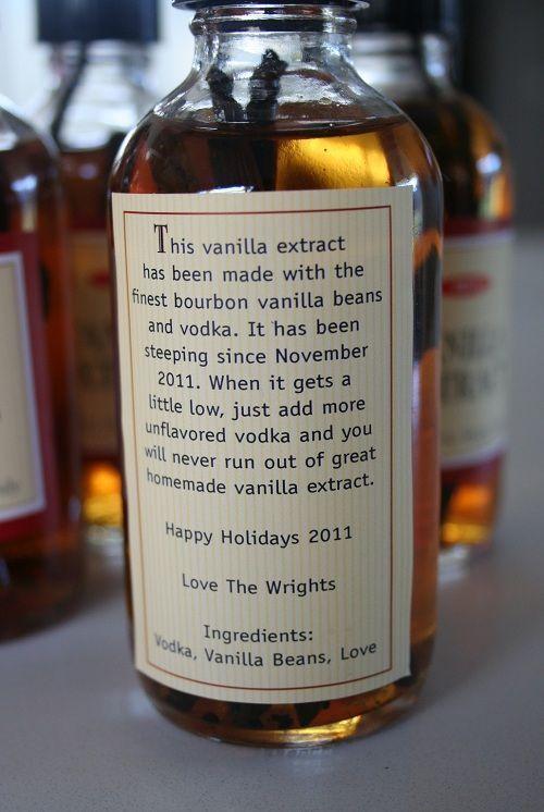 Homemade Vanilla Extract..I love the label!!