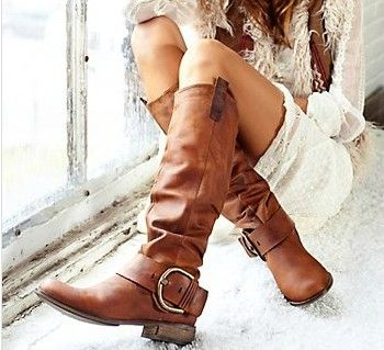 Steve Madden boots  You'll be the hottest cowgirl in the saloon wearing the flirtatious fashion of these Steven Satirday boots! Nubuck leather upper. Price: $194.65  Only in black