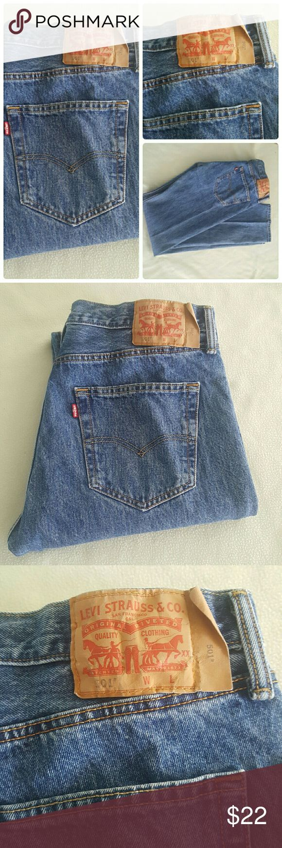 Levi's 501 button fly jeans Levi's 501 button fly jeans. 36 x 38 Levi's Jeans Relaxed