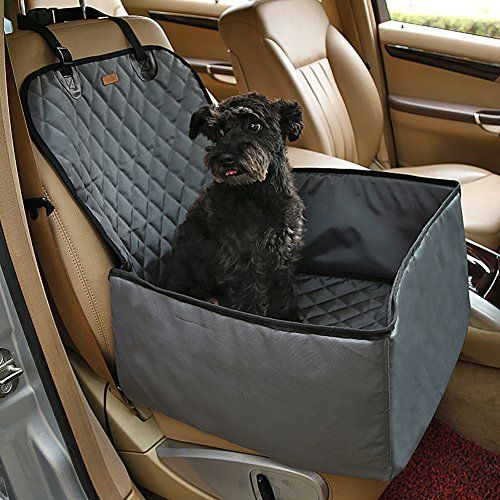 Yotron Dog Car Seat Cover With Bonus Waterproof Pet Belt For Cars And Suv Nonslip Quilted Extra Side Flaps Machine Washable Hammock