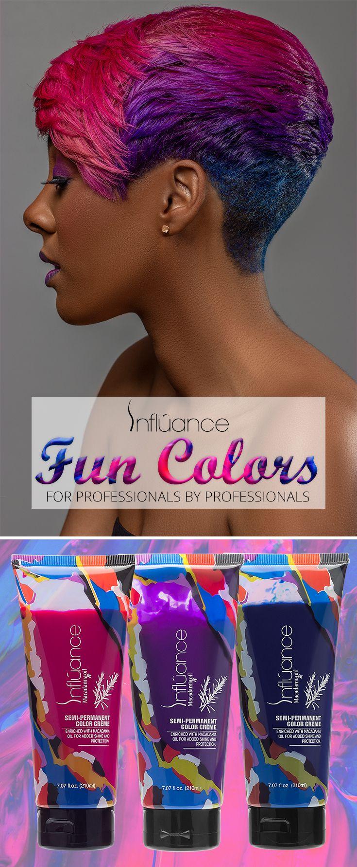 Influance Hair Care Fun Colors For Professionals By Professionals Capelli Piu Corti Capelli
